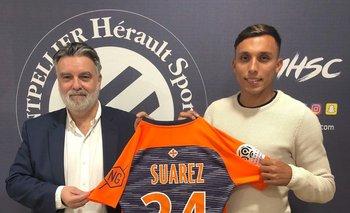 Mathías Suárez fue presentado como nuevo jugador de Montpellier