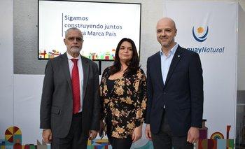 Benjamin Liberoff, Larissa Perdomo y Antonio Carambula