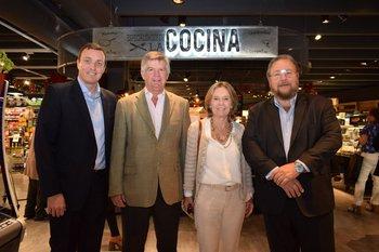 Guillermo Destefanis, Guillermo Vivo, Alicia Lalanne y Carlos Pombo