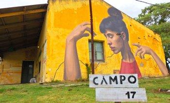 Este añó el colectivo Licuado intervino uno de los muros de Pueblo Garzón