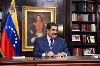 El presidente de Venezuela, Nicolás Maduro, el pasado 31 de diciembre en el Palacio de Miraflores