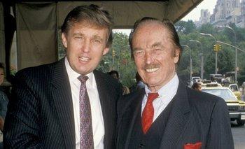 Donald y Fred Trump en 1988. El hijo dice haber heredado el estilo de negocios del padre, pero según un informe periodístico, también heredó su fortuna multimillonaria.