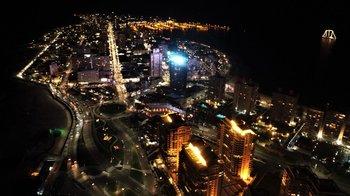Vista aérea de la península de Punta del Este. Foto de archivo.