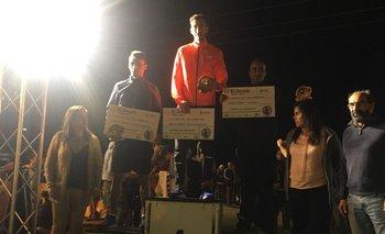 El podio masculino en La Paloma