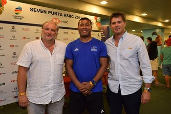Santiago Rodríguez, Waisale Serevi y Nicolas Pastore