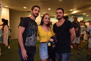 Lucas Brucco, Victoria Cancel y Bruno Konrad