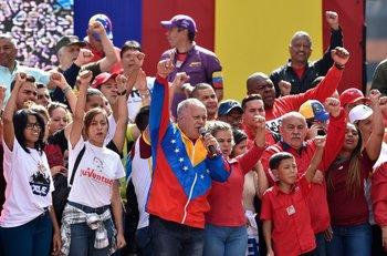 El número dos del chavismo, Diosdado Cabello, encabezó un acto público en defensa del gobierno