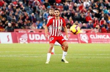 Joaquín Arzura en Almería, su último equipo antes de llegar a Nacional