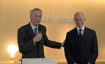 Jean-Dominique Senard junto a Thierry Bolloré