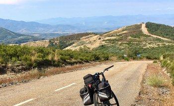 Subiendo a O Cebreiro, una de las zonas montañosas de Galicia
