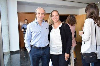 Gabriel Polak y Valentina Fernández