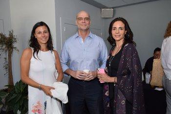 Ivana Calcagno, Rodolfo Giroscia y Sabina Bertulo
