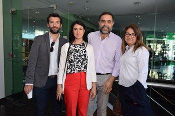 Juan Taborelli, María josé Abad, Diego Moltini y Margot Morales
