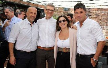 Gabriel Di Caprio, Alvaro Carrier, Lucia Elhordoy y Alvaro Lago