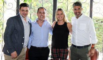 Rodrigo Silva, Javier Macias, Ximena Parada y Rodrigo Rosales