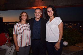 Gloria Cifuentes, Winston González y Gabriela Valli