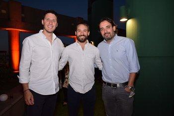Hernán Larrosa, Sebastian Bardacosta y Martin Spinelli