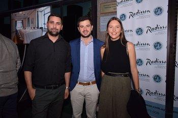 Leonardo Gangneux, Juan Brito del Pino y Andrea Pignata