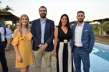 Verónica Biestro, Martin Sade, Danaeh Barboza y Diego Puppo