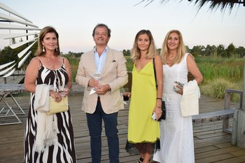 Inés Chousiño, Giorgio y Cecilia Palenga y Rosana Ottieri