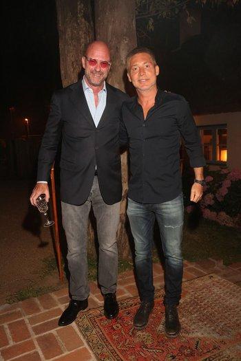 Giuseppe y Adrián Suar en la fiesta de Giuseppe Cipriani