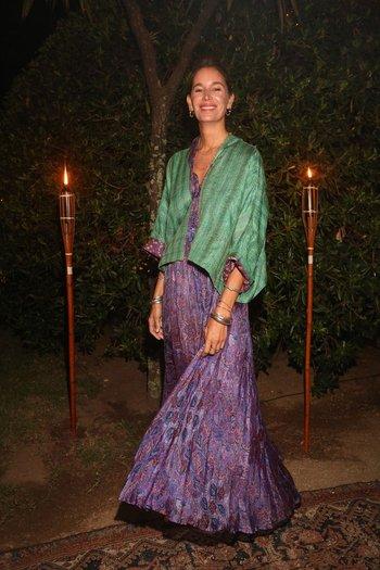 Dolores Barreiro en la fiesta de Giuseppe Cipriani