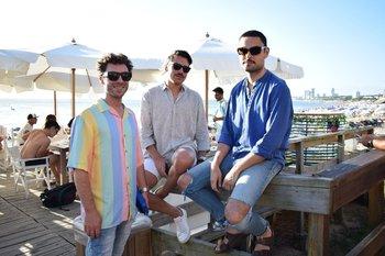 Agustin Lafferranderie, Pedro Marquez y Diego Cuña