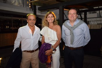 Diego Perera, Fabiana Invernizzi y Sebastian Danrre