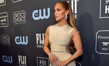Jennifer Lopez en la antesala de la ceremonia
