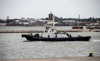 Barco de Prefectura. La embarcación pesquera salió desde el kilómetro 27 de la ruta 1