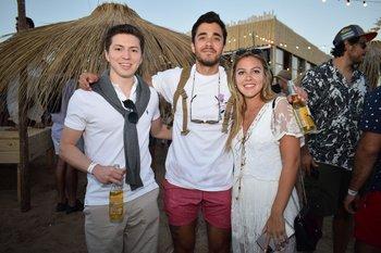 Olimpio Fleitas, Geronimo Zavala y Natalie Garona