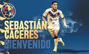 Sebastián Cáceres es nuevo jugador de América de México