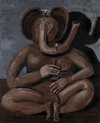Ganesha mateando (2001). ITURRIA