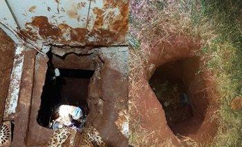 Los reclusos cavaron un túnel para escaparse