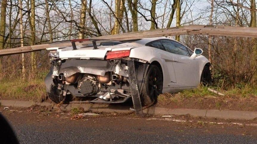 Chiquito Romero protagonizó un accidente en su Lamborghini