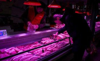 Mercado de carne en Pekín