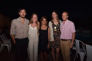 Horacio Bolz, Valentina y Virginia García Reyes, Silvina Castagno y Santiago García Reyes