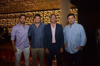Nino y Santiago Deicas, Darvry Amaro y Fernándo Deicas