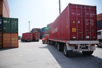 El contenedor fue escaneado previo a su salida en Montevideo