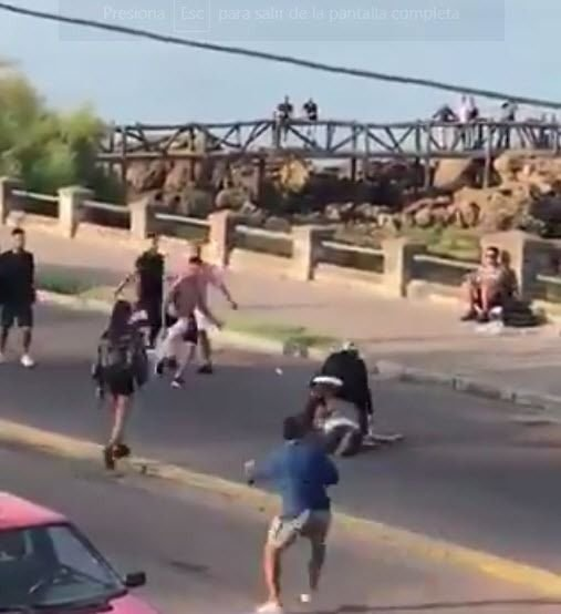 Batalla campal a las piñas entre argentinos y uruguayos en Piriápolis