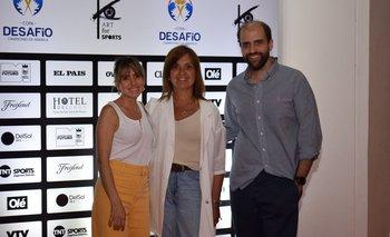 Virginia Molfese, Rosario Corral y Franco Cinquegrana