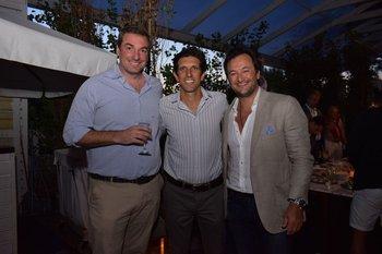 Bruno Sobrero, Marcos Grolero y Juan Andrés Cendan