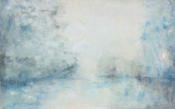 Marcela Ambrois-Tierras de ensueño Acrílico sobre tela 120x160cm en Posada Paradiso 2.