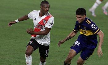 Nicolás De la Cruz juega un nuevo clásico para River ante Boca