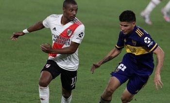 Nicolás De la Cruz jugará un nuevo clásico ante Boca defendiendo a River
