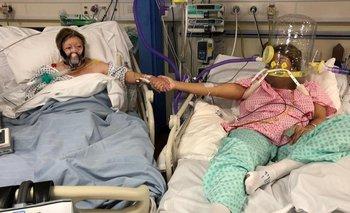 Maria Rico y su hija Anabel Sharma fueron internadas en el hospital por covid-19 el mismo día.