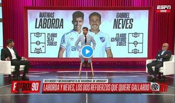 Gabriel Neves y Mathías Laborda interesan a River Plate argentino