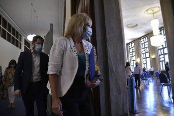 La intendenta de Montevideo Carolina Cosse presenta datos de la situación sanitaria en Montevideo