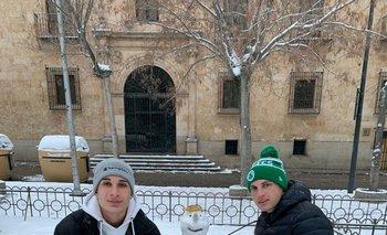 Muñeco de nieve en Salamanca