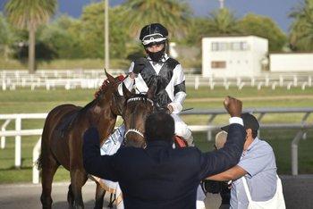 Da Silva tras ganar el Piñeyrúa